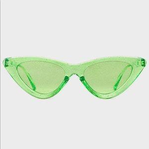 Green glitter sunglasses